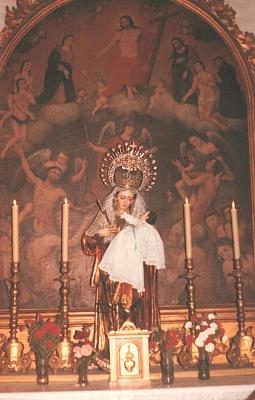 La Virgen en la  Capilla de Ánimas. Navidad de 1990